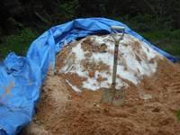雪室 雪に埋もれた玄そば